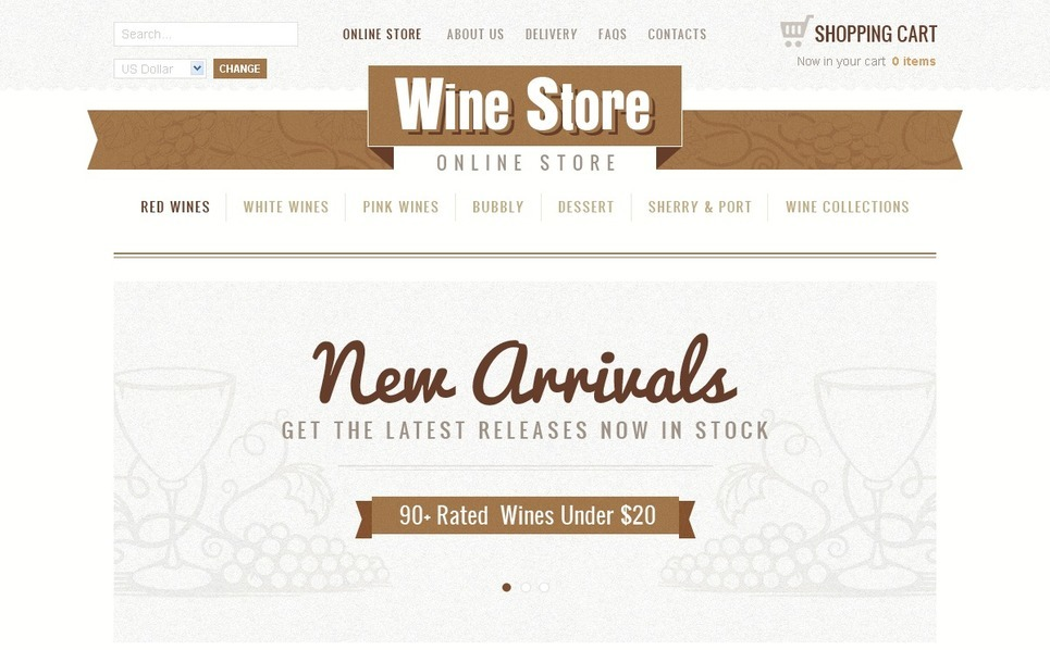 Wine VirtueMart Template New Screenshots BIG
