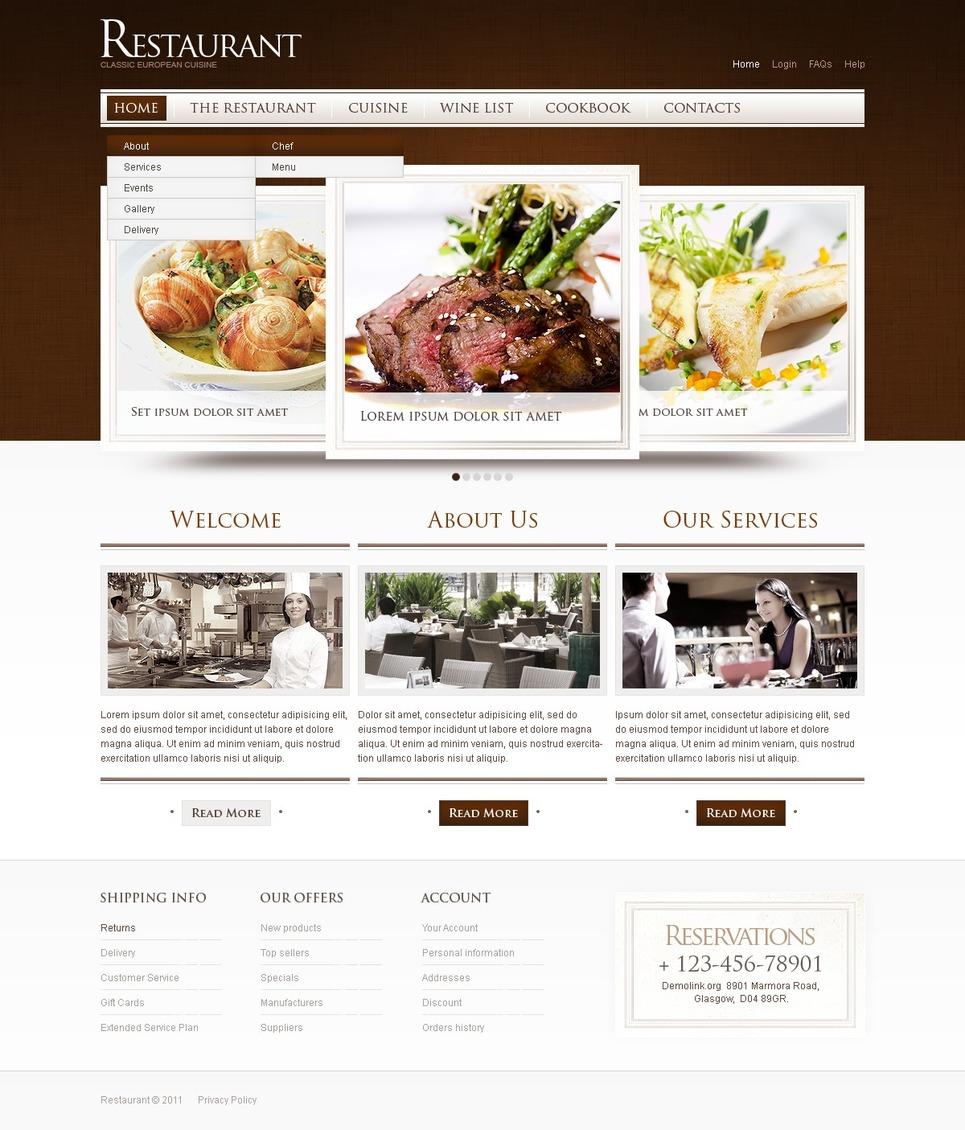 European Restaurant Website Template New Screenshots BIG