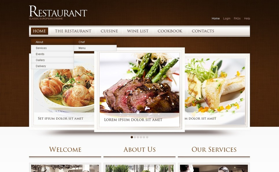 European Restaurant Website Template New Screenshots BIG