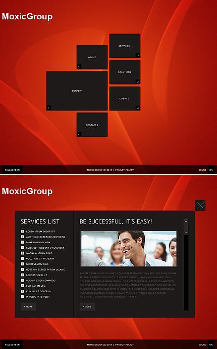 Заявленный дизайн с руссификацией всех элементов.  Сайт...  Подключение системы управления сайтом.