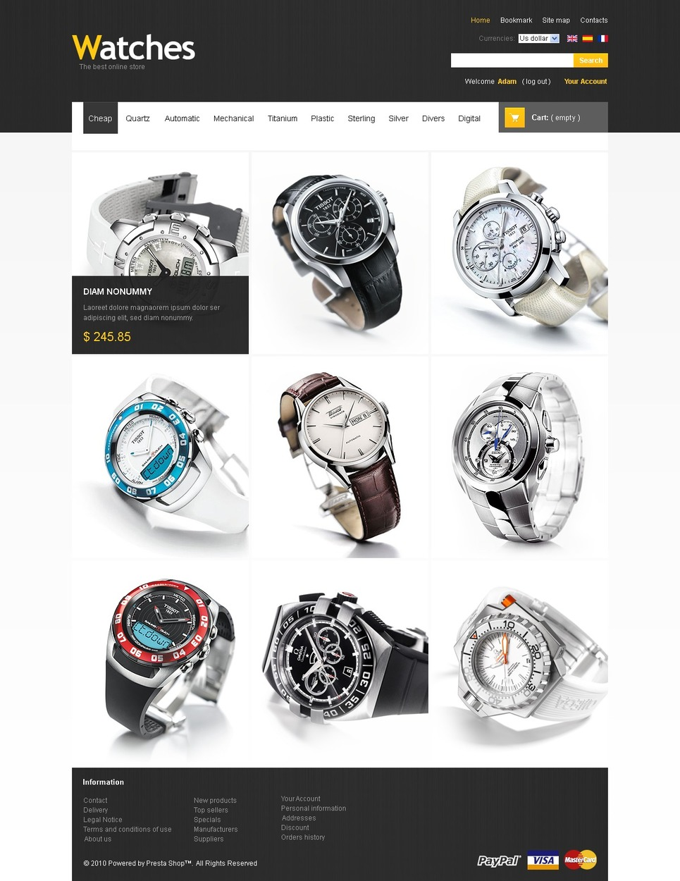 Refined Style PrestaShop Theme New Screenshots BIG