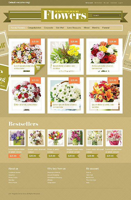 Flowers the biggest choice on web - Ultimate Florist Store Magento Theme