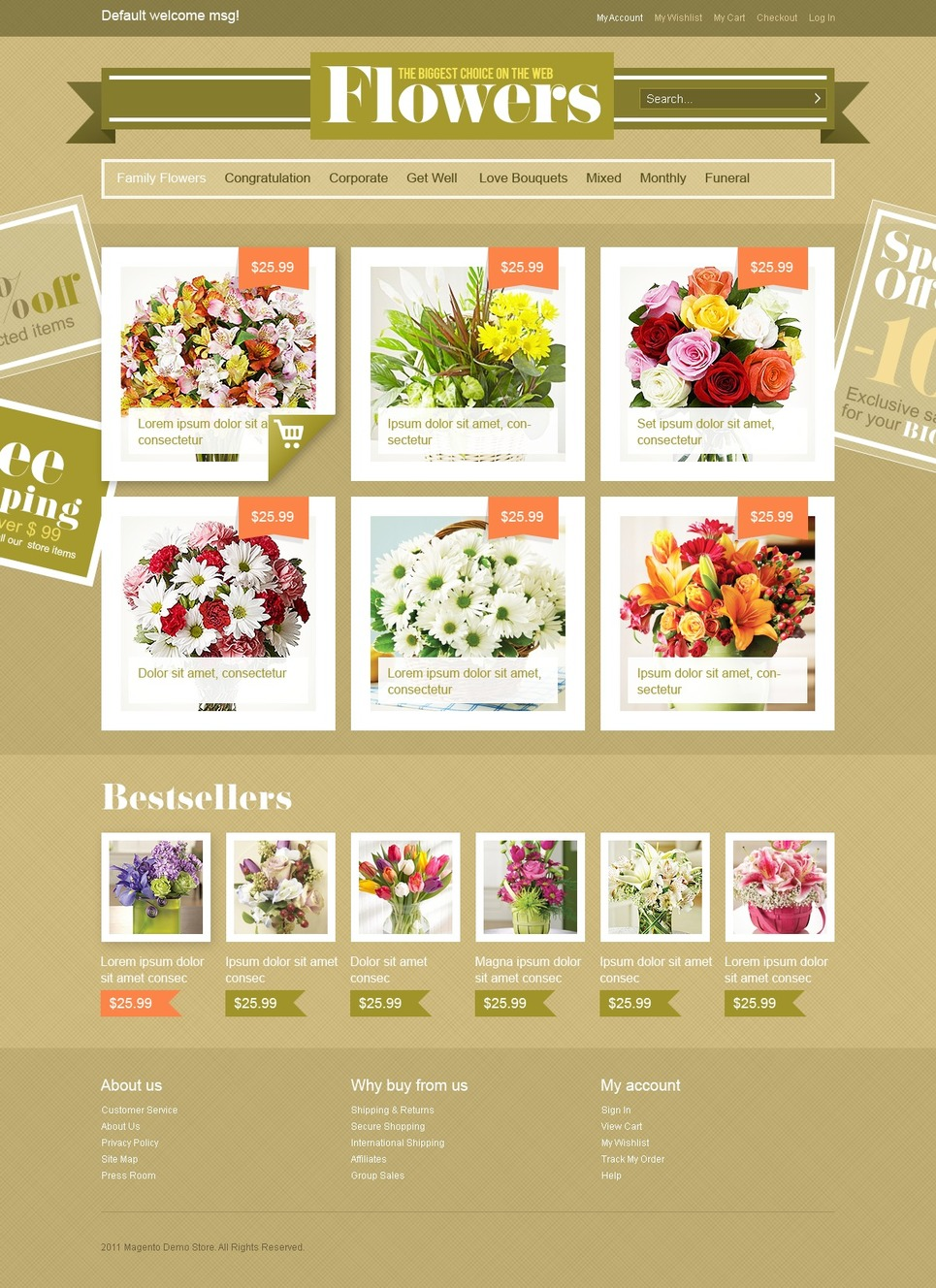 Flower Shop Magento Theme New Screenshots BIG