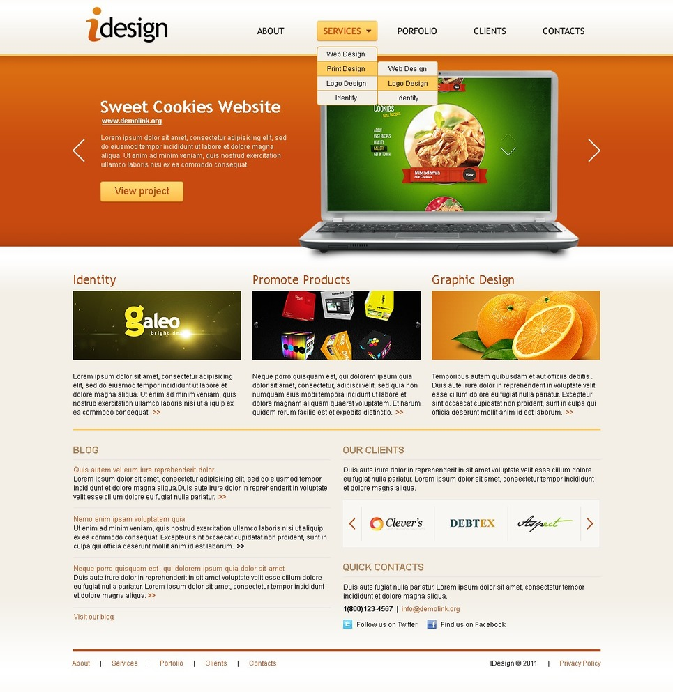 Web Design Joomla Template New Screenshots BIG