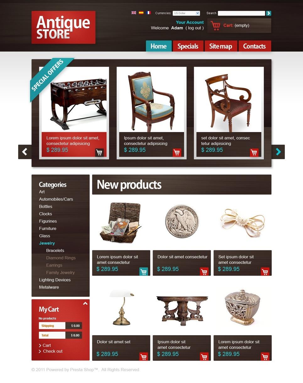 Treasure Box PrestaShop Theme New Screenshots BIG