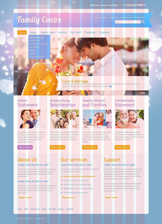 Family Center WordPress Theme New Screenshots BIG