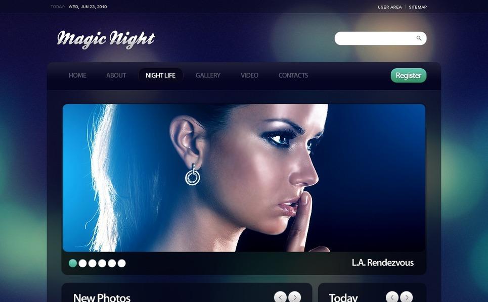 Night Club Drupal Template New Screenshots BIG