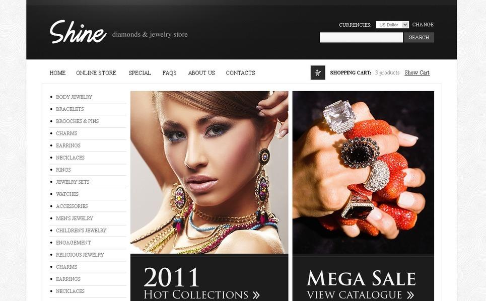 Jewelry VirtueMart Template New Screenshots BIG