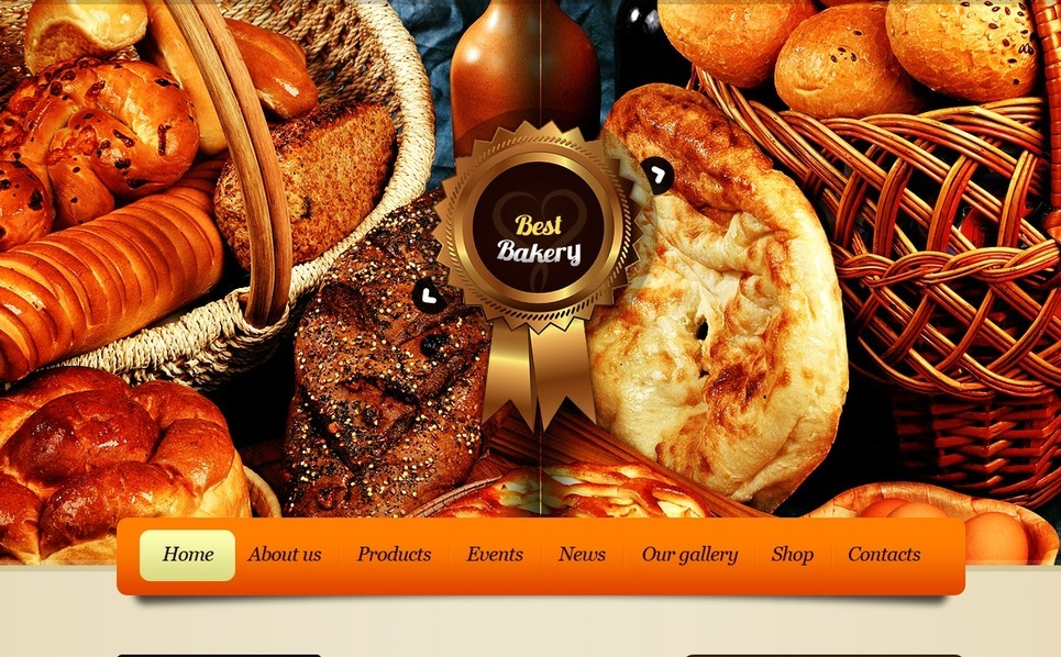 Bakery Website Template New Screenshots BIG