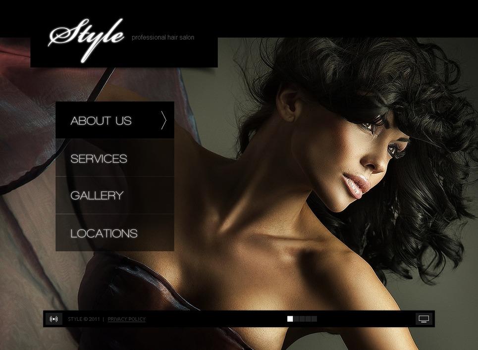 Hair Salon Flash Template New Screenshots BIG
