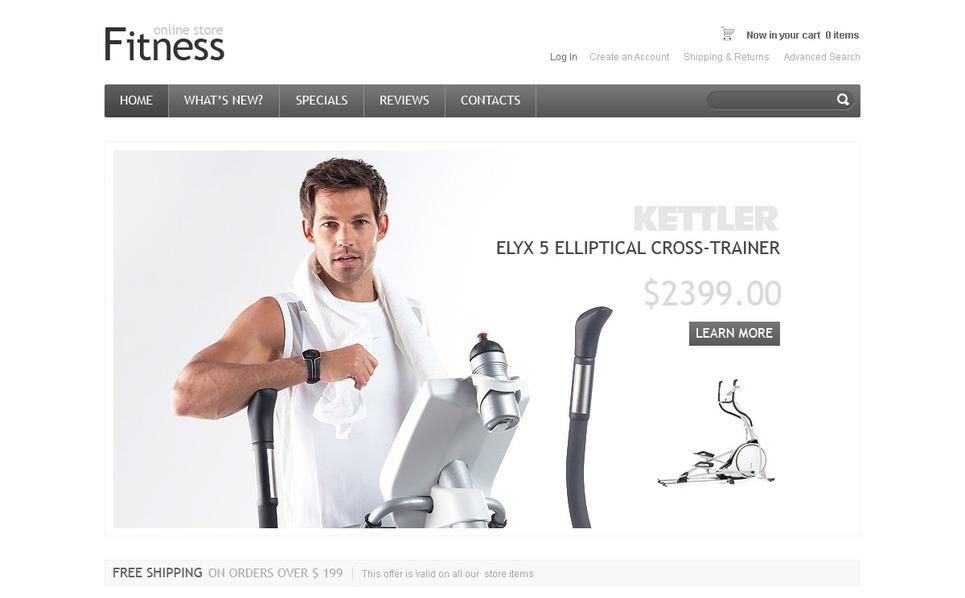 Fitness OsCommerce Template New Screenshots BIG
