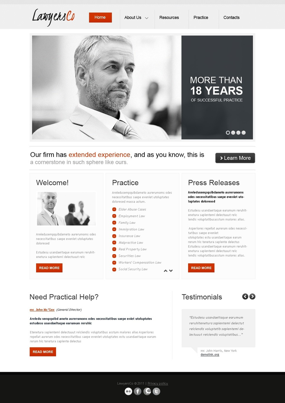 Law Firm Website Template New Screenshots BIG