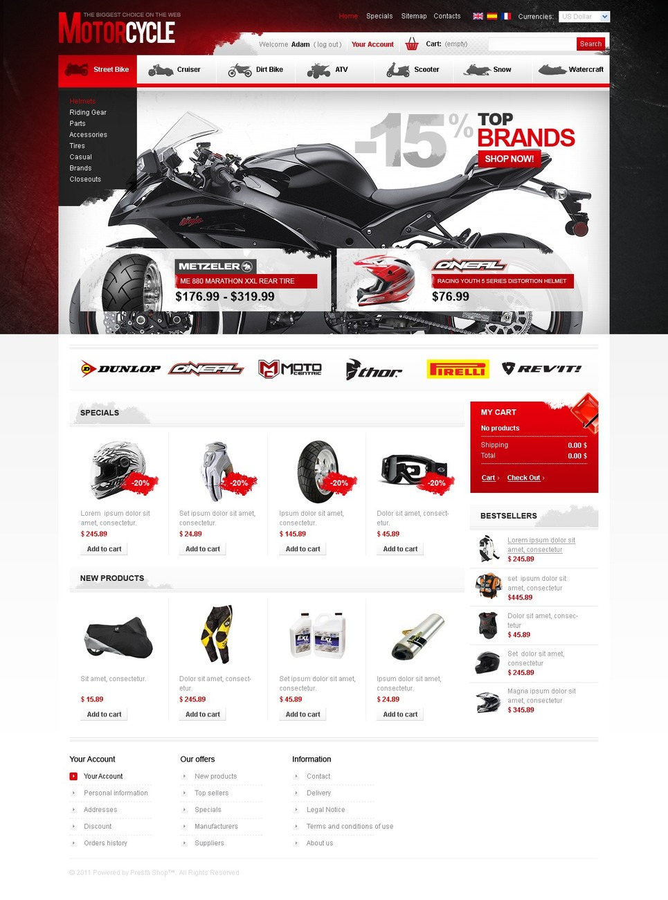 Motor Island PrestaShop Theme New Screenshots BIG
