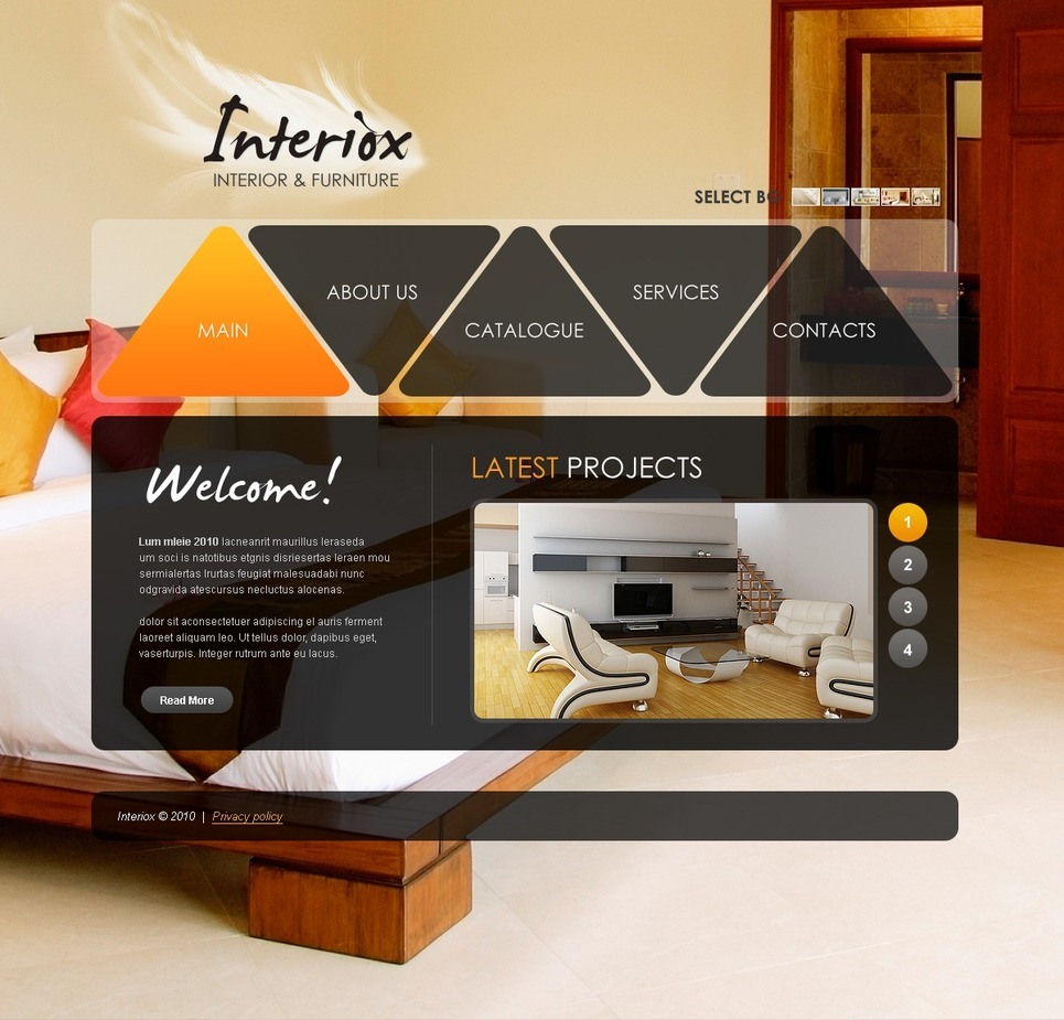 Interior Furniture Website Template Web Design