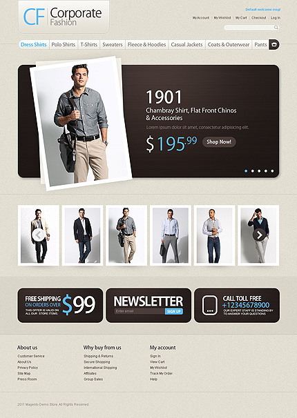 Corporate fashion CF - Ultimate Magento Fashion Store Theme