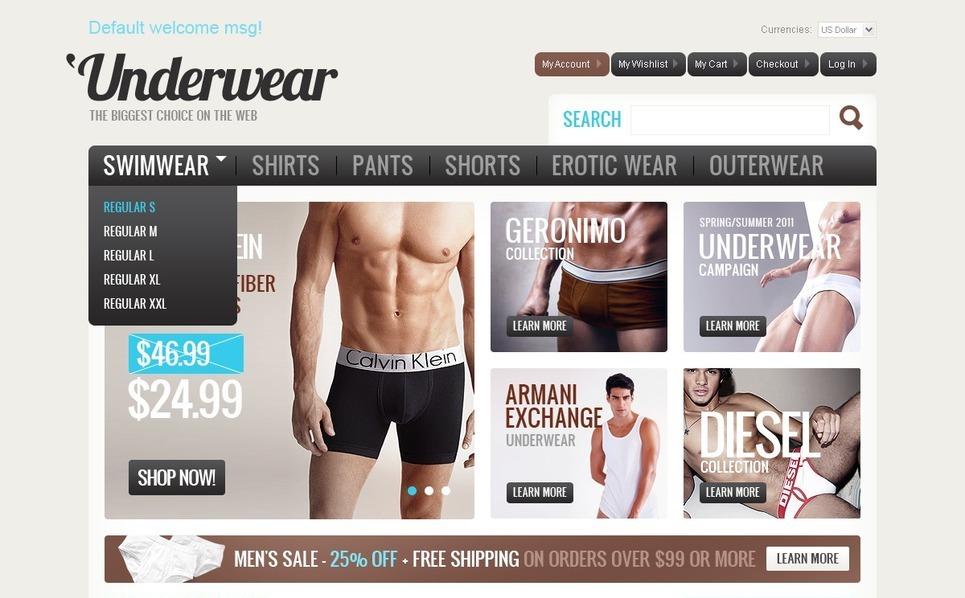 Men's Underwear Magento Theme New Screenshots BIG