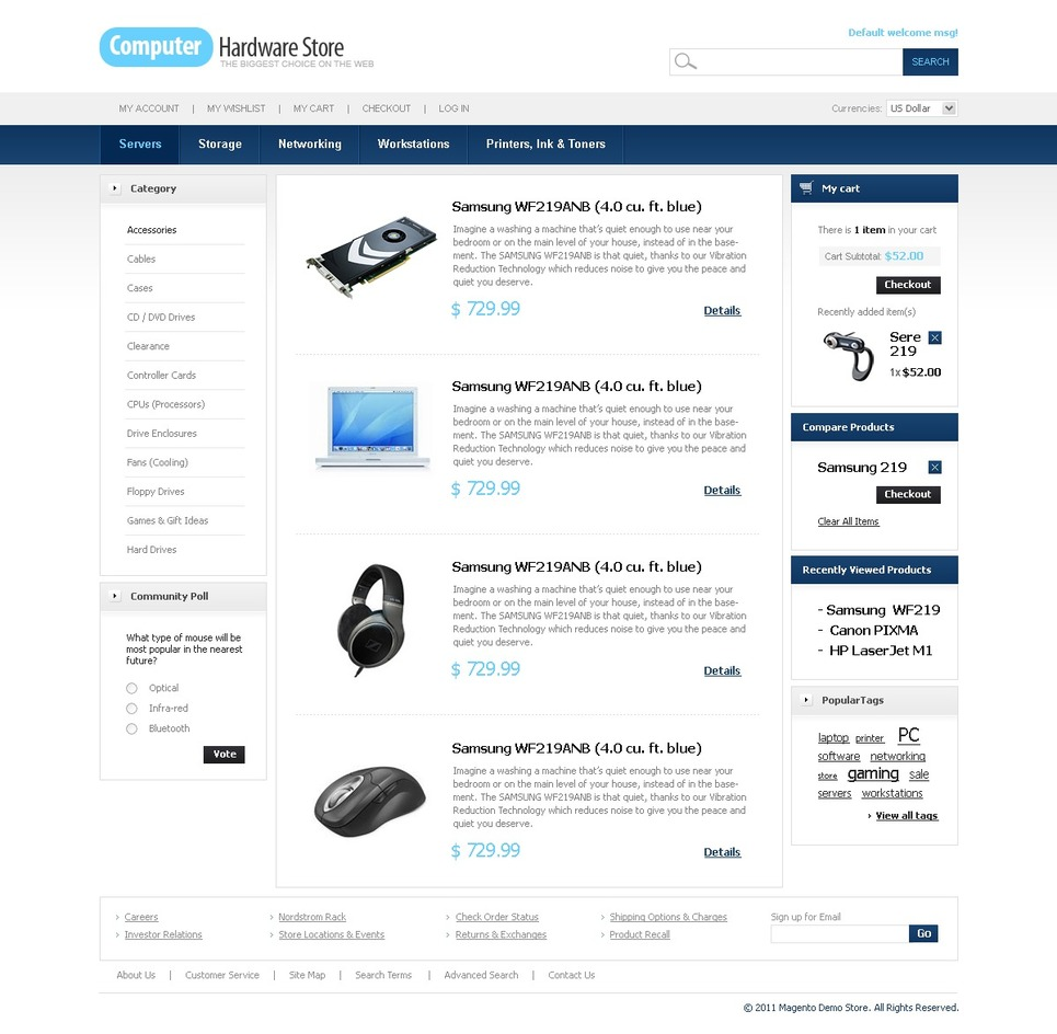 Computer Store Magento Theme New Screenshots BIG