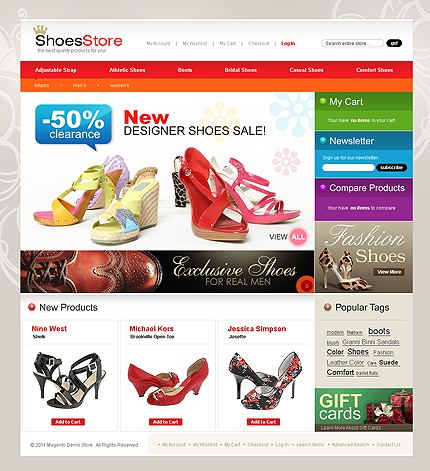 Shoes store - Top Footwear Store Magento Template