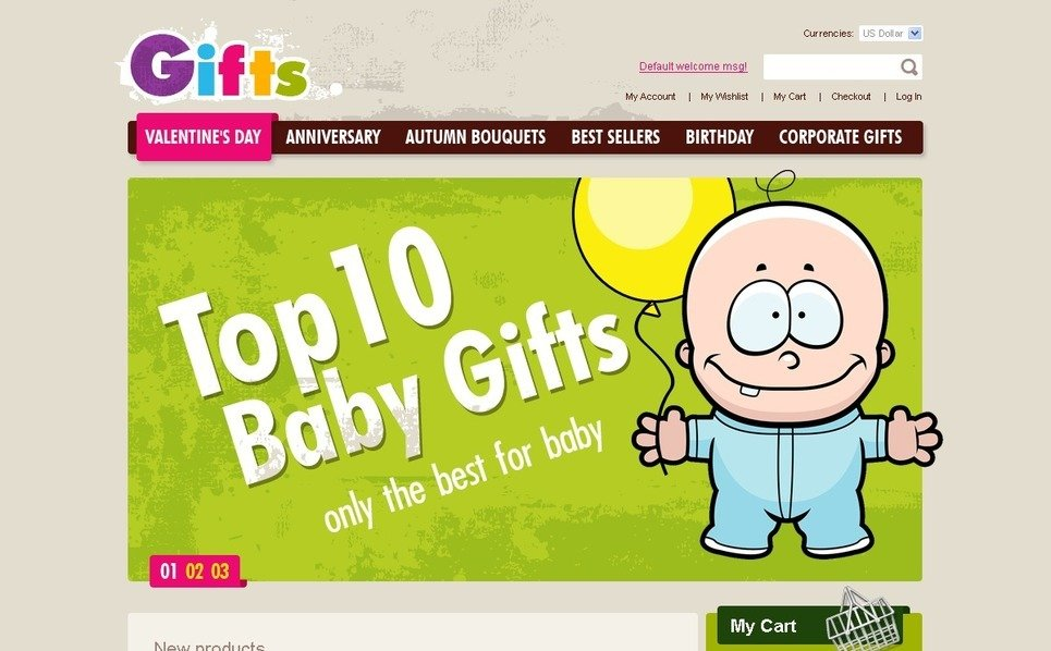 Gifts Store Magento Theme New Screenshots BIG