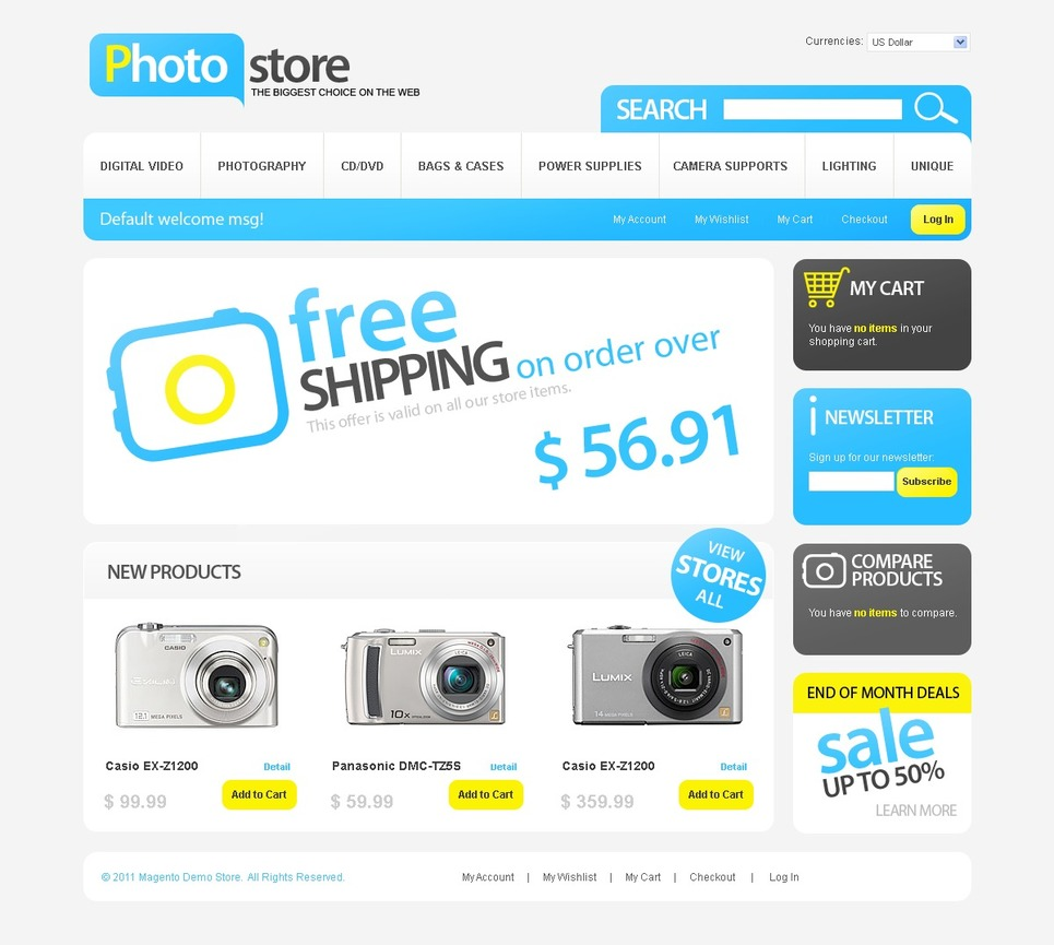 Amazing Photo Store Magento Theme
