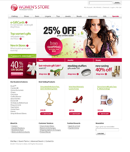 Women store - Stylish Magento Fashion Store Theme