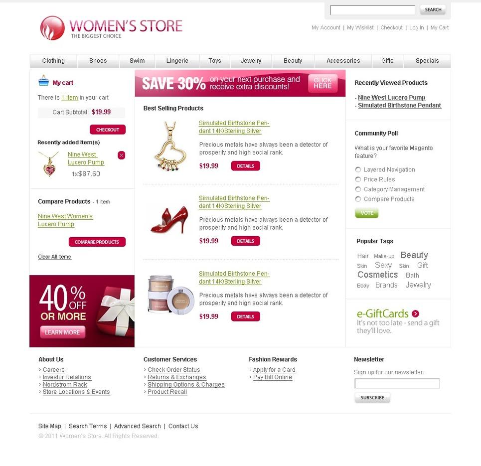 Fashion Store Magento Theme New Screenshots BIG