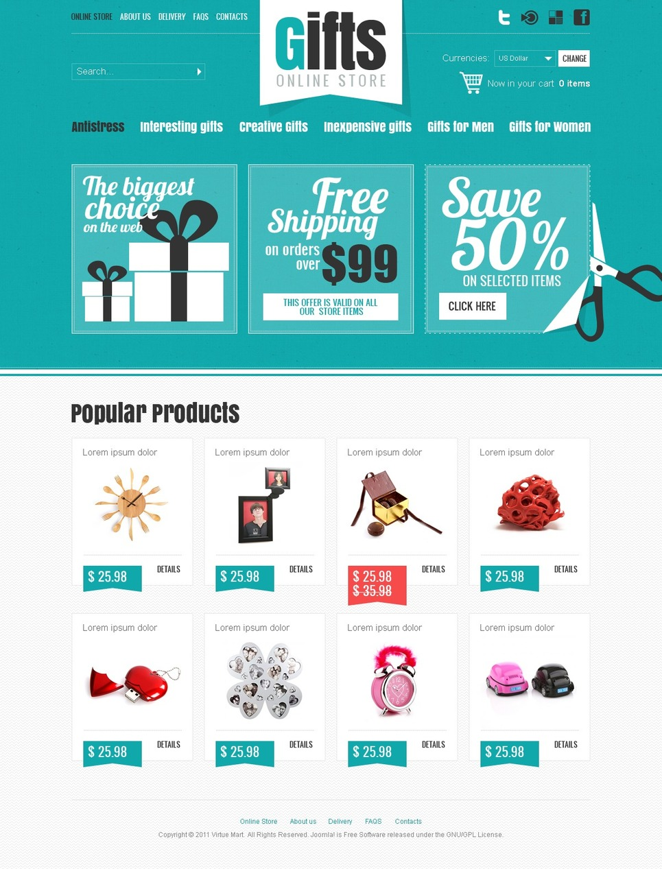 Gifts Store VirtueMart Template New Screenshots BIG