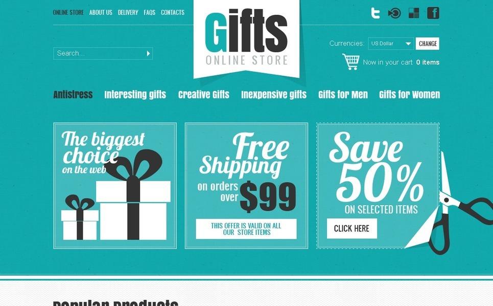 Gifts Store VirtueMart Template New Screenshots BIG