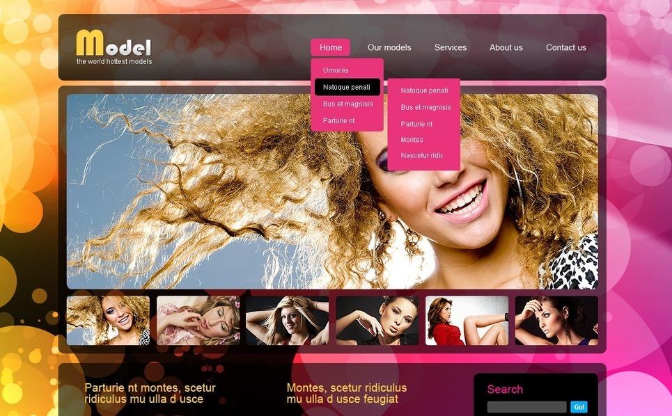 Model Agency Joomla Template New Screenshots BIG