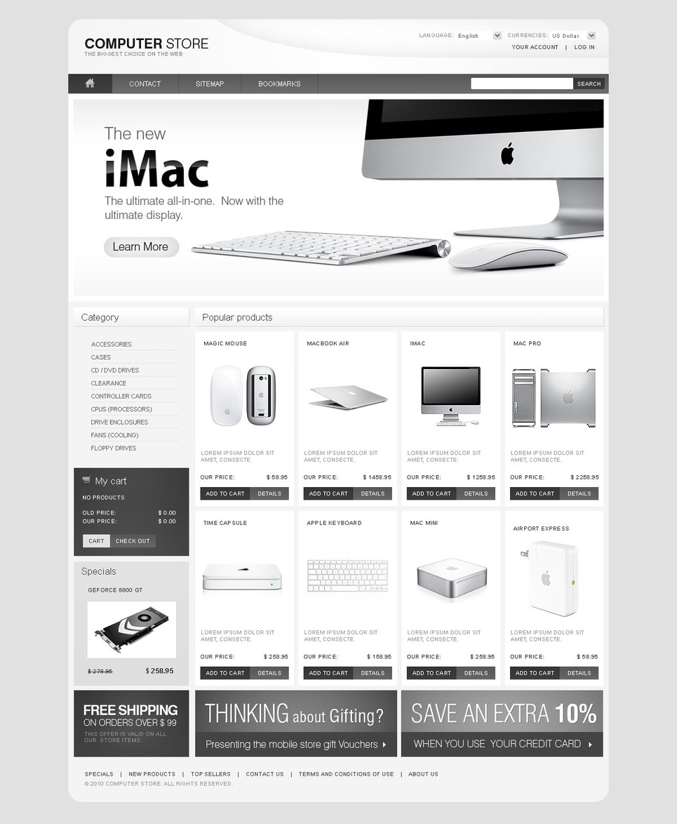 Computer Plus PrestaShop Theme New Screenshots BIG
