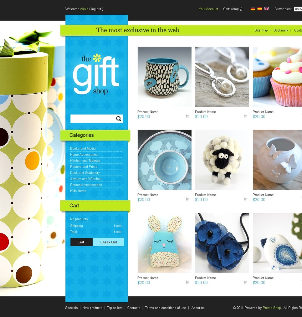 Beautiful gifts PrestaShop Theme New Screenshots BIG