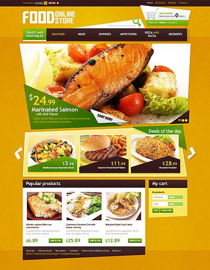 Food online store - Moriesh Food Store PrestaShop Theme