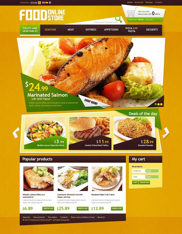 Delicious food prestashop theme web design templates for Cuisine site