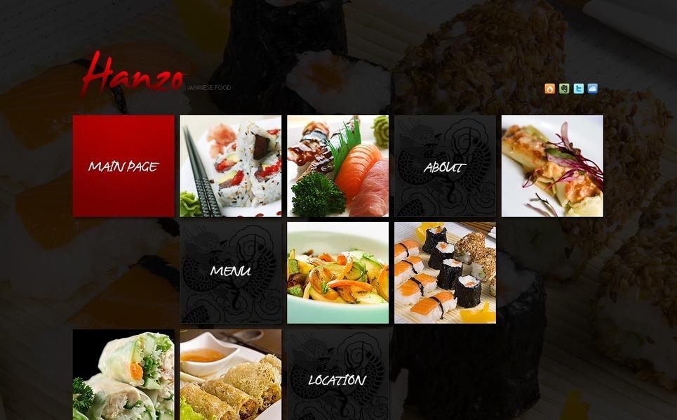 Japanese Restaurant Flash Template New Screenshots BIG