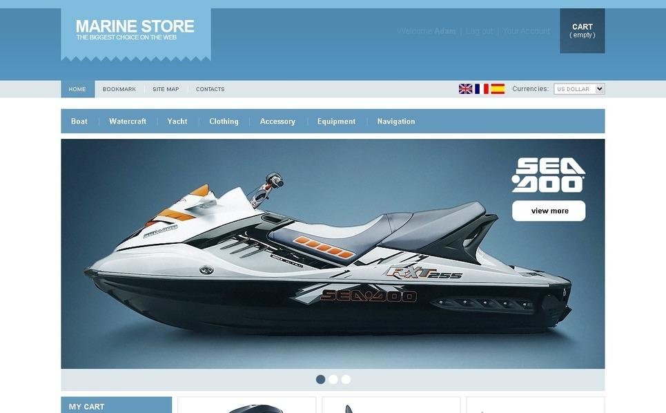 Marine Goods PrestaShop Theme New Screenshots BIG