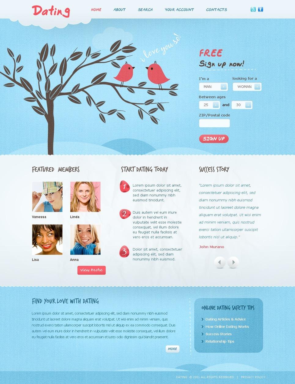Dating Website Template New Screenshots BIG