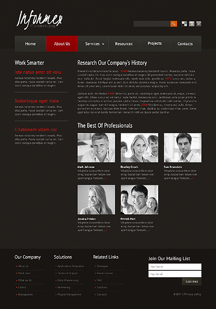 Website Template #35014
