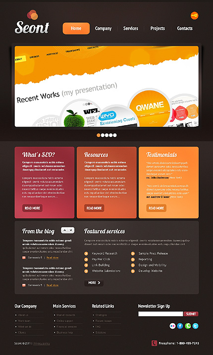 Website Template #35015