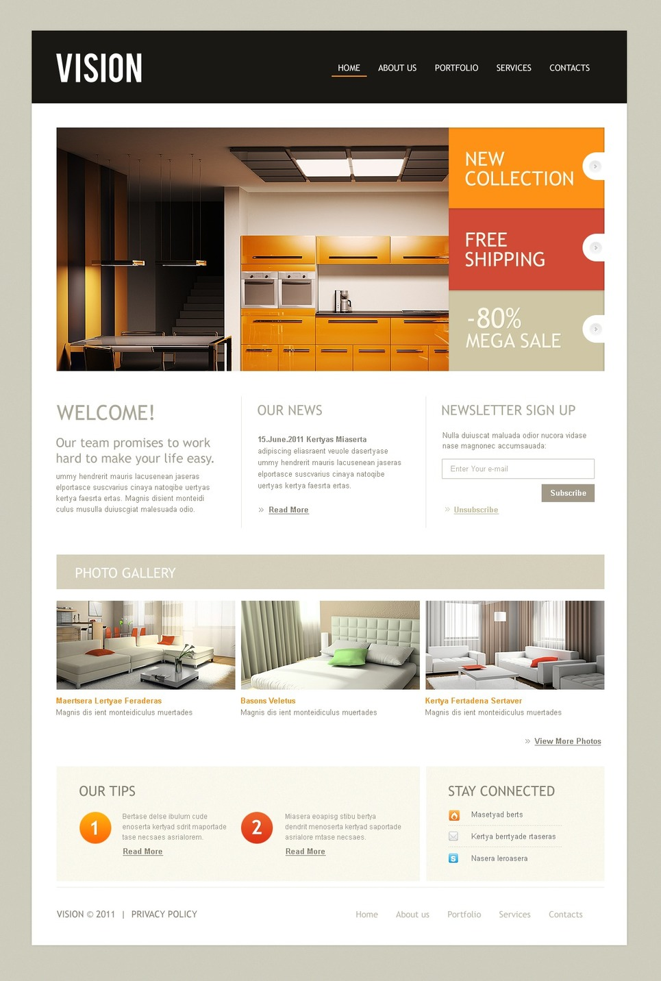 Interior design website template 35020 for Interior design sites