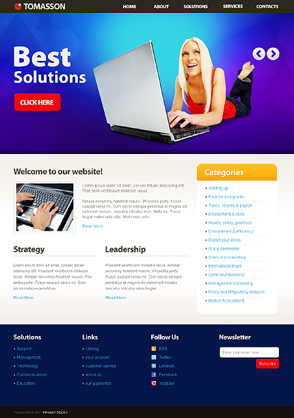 Tomasson - Business WordPress Theme