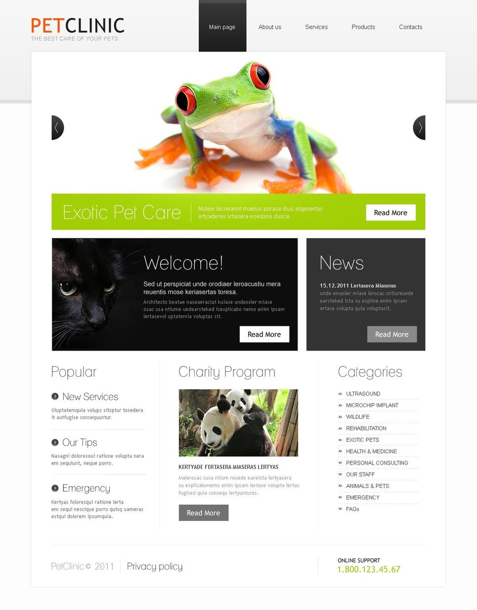 Vet Website Template New Screenshots BIG