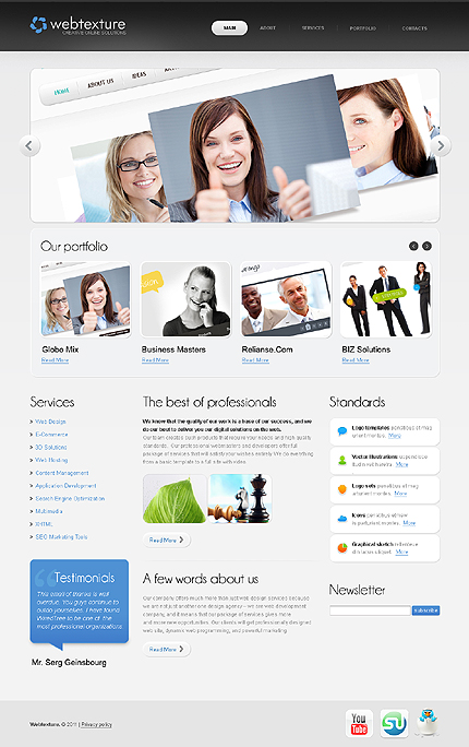 Webtexture - Web Design WordPress Theme