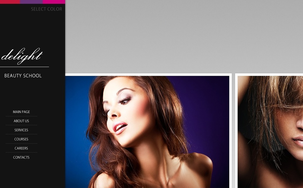 Beauty School Website Template New Screenshots BIG