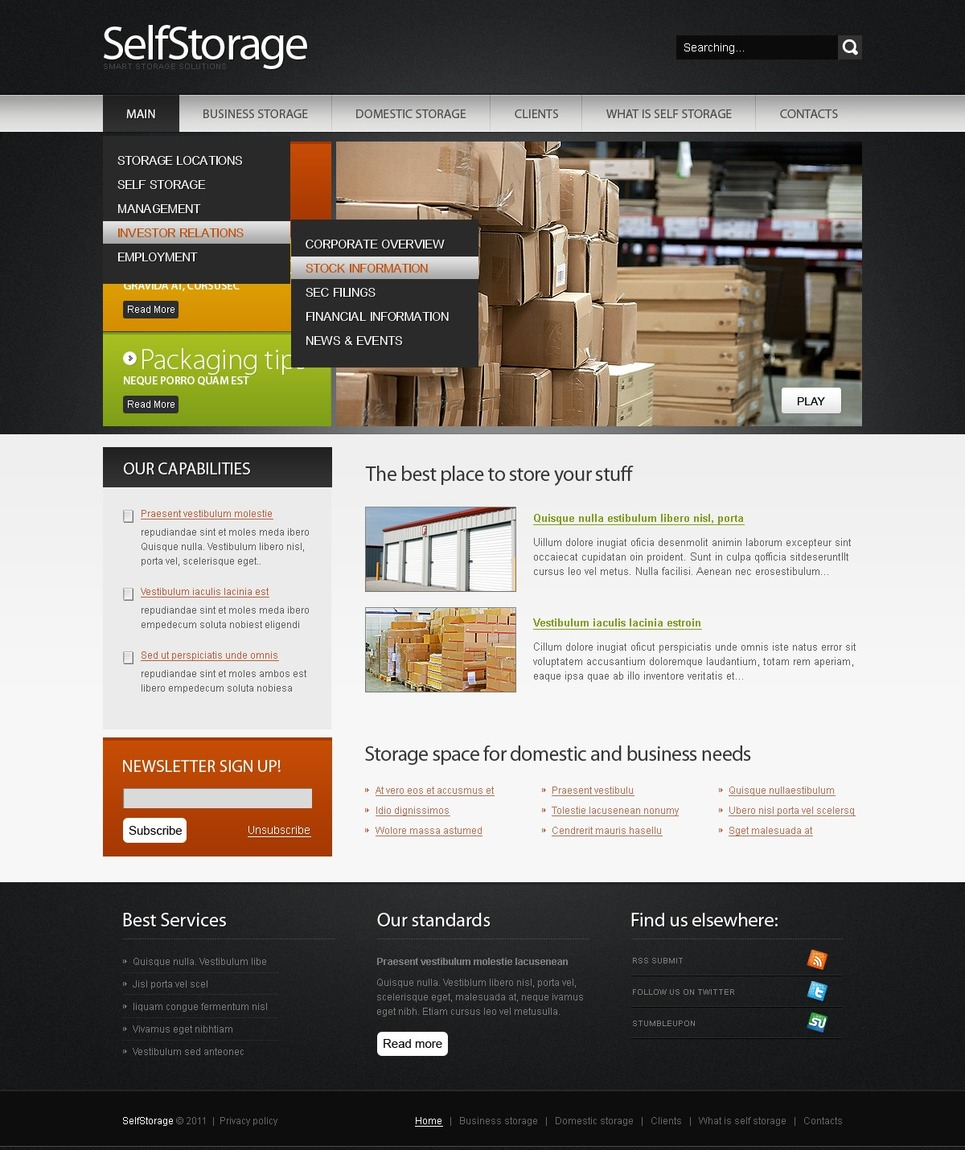 Maintenance services website template web design for Maintenance mode html template