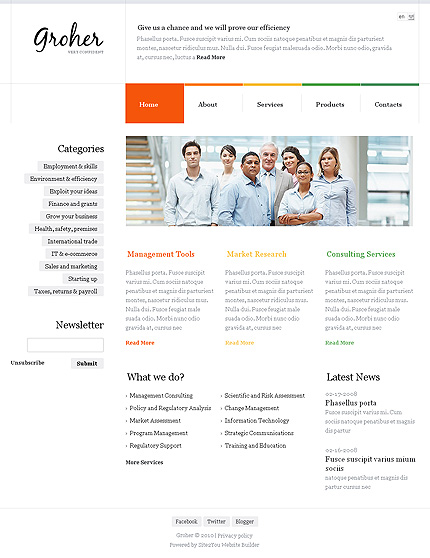 Website Template #35101
