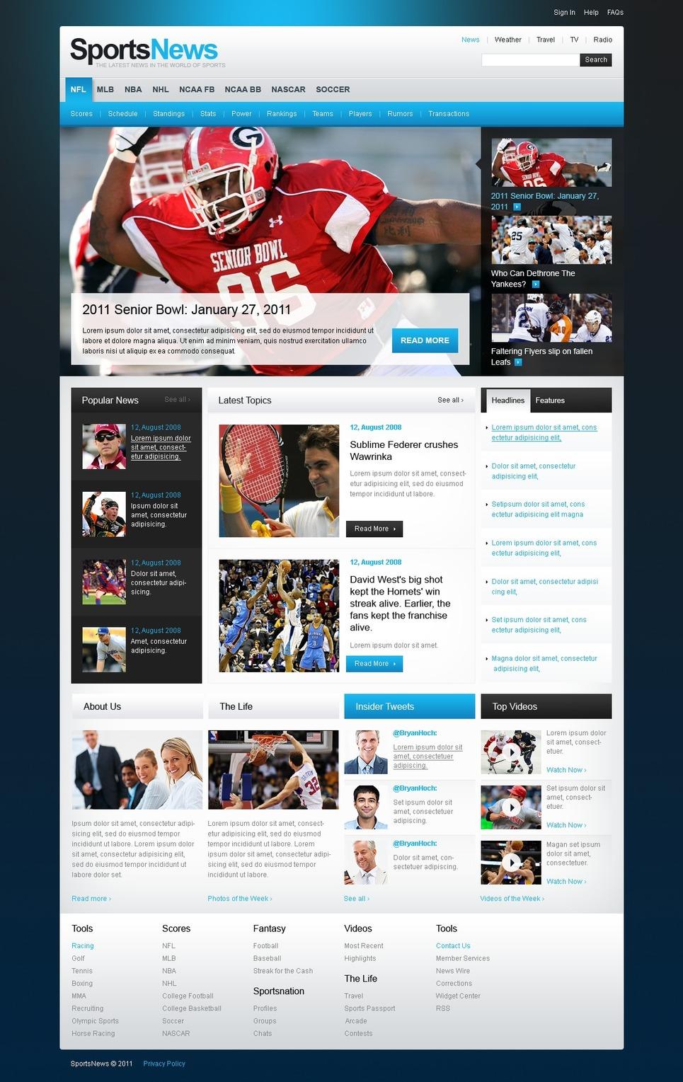 Sports News Website Template New Screenshots BIG