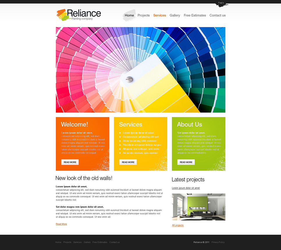 Painting Company Website Template New Screenshots BIG