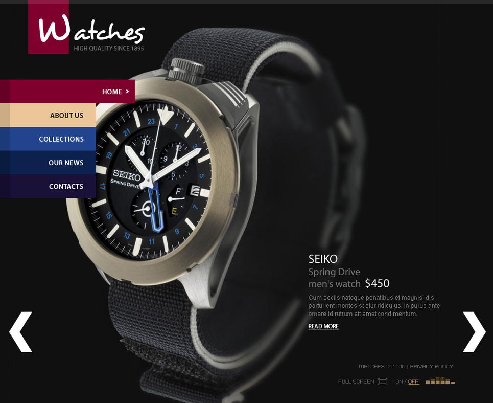 Online Shop Flash CMS Template - image