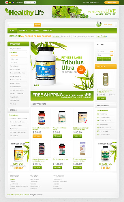 Healthy life - Nourishing Online Pharmacy Store PrestaShop Theme