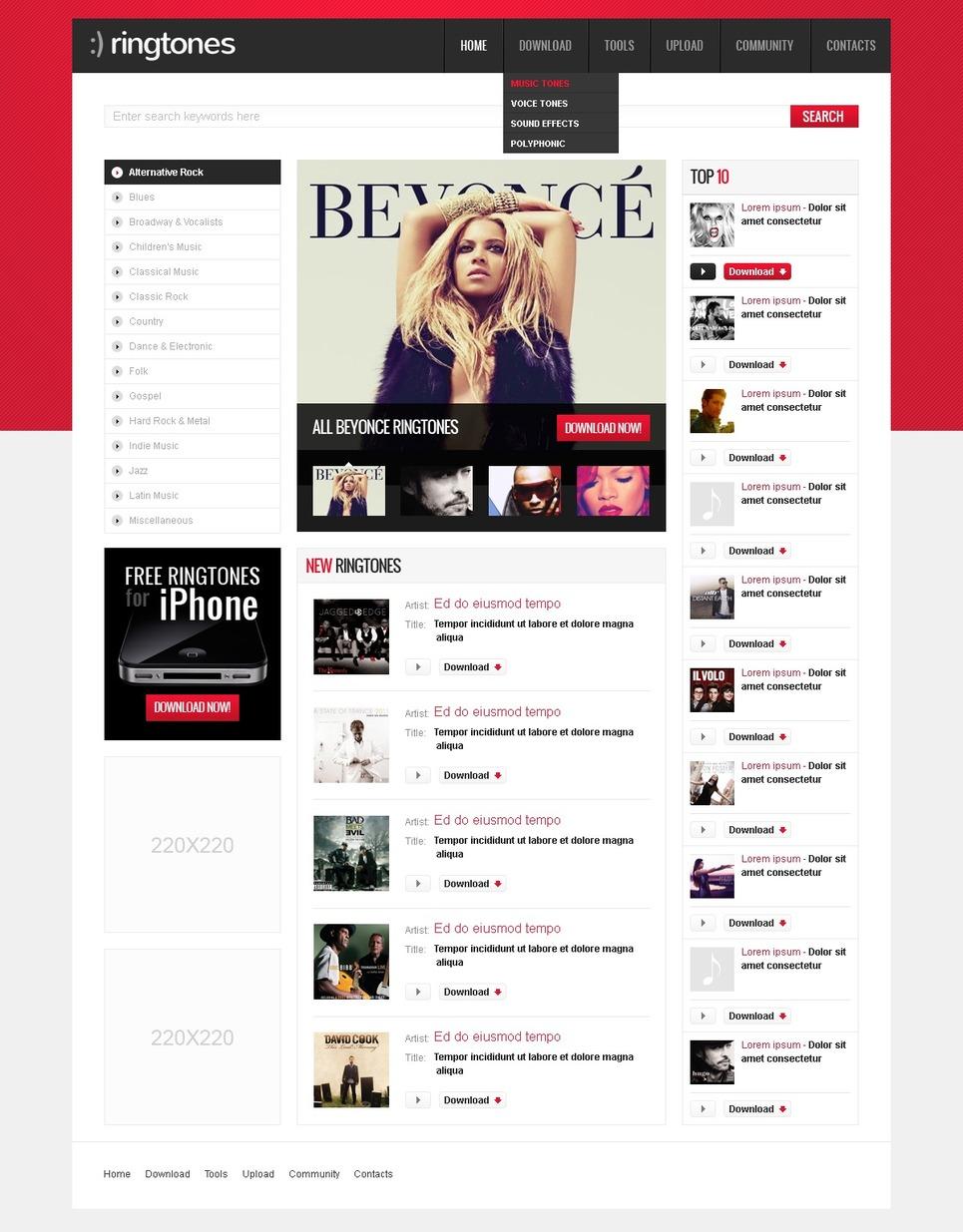 Entertainmnet Website Template New Screenshots BIG